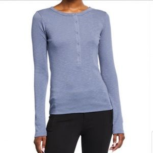 Vince Long Sleeve Snap Front Henley